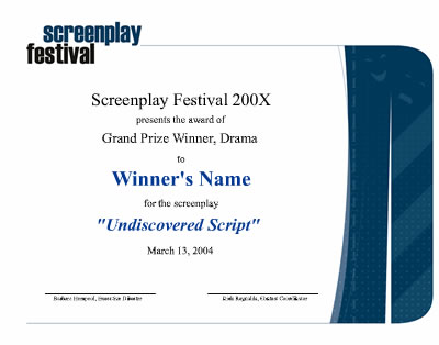 Prizes screenplay festival laurels every grand prize winner yadclub Gallery